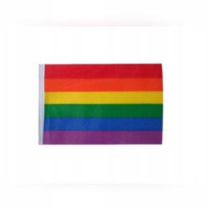 Flaga tęczowa mała 16x11 cm