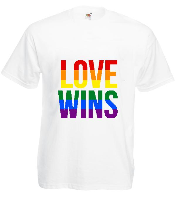 Koszulka: Love Wins (duże)