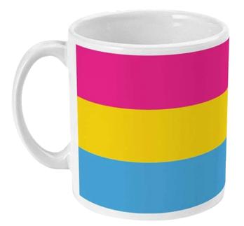 Kubek: Flaga panseksualności