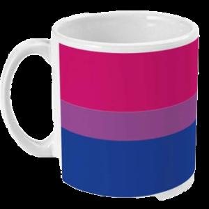 Kubek: Flaga biseksualności