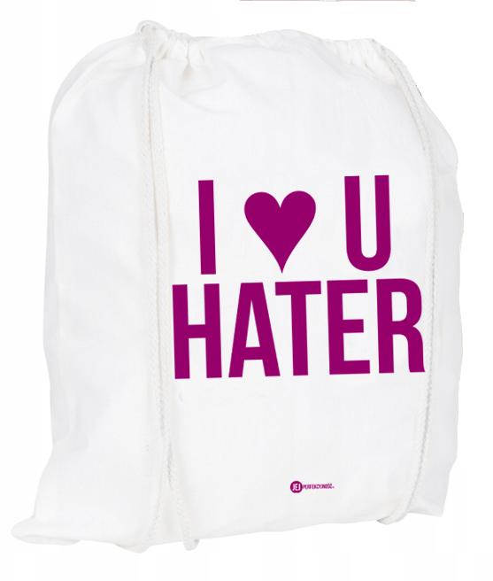 Plecak / worek: I ❤ U Hater