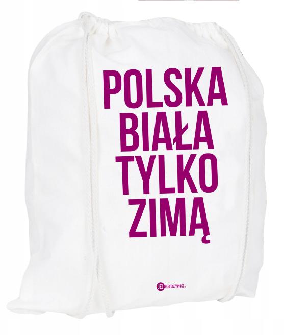 Plecak / worek: Polska biała tylko zimą