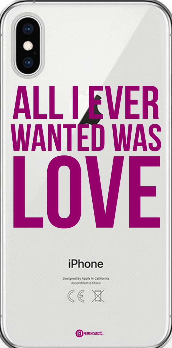 iPhone case: All I Ever Wanted Was Love